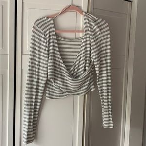 Aerie crop top light sweater Womens size L